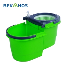 2015 Innovation Product Plastic Pole Material Easy Mop with Foldable Bucket