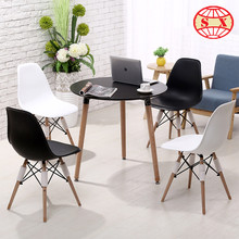 company plastic table and wooden feet chair Table and Chair cheap office chair