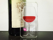 3d liquid red wine goblet TPU mobile phone case for iphone 6
