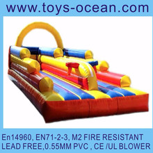 inflatable 2 lane bungee run air bungee jumping inflatable bungee sport game