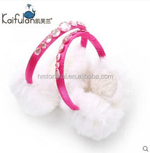 Children and baby thermal ear cover plush earmuffs with diamonds