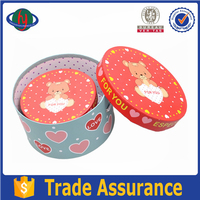 custom design decorative round cardboard wholesale gift boxes