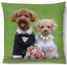 Made in China 2016 dog design sublimated pillows cushion