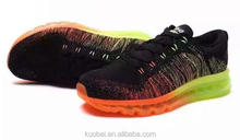 New models max quality 2014 style air Breathable Mesh Light Rainbow running shoes Flyknit Sneaker Sport Shoes
