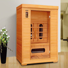 2015 year 2 person bathrooms design far infrared relax sauna room, solid wood comfort home beauty sauna room