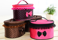 Lovely Women's Cosmetic Bag Bow Tie Tolietry Storage Organizer Bag Make-up Handbag