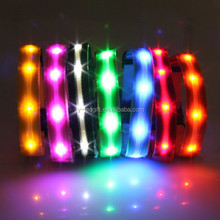 color christmas led dog collar nighted collar with led light for pet