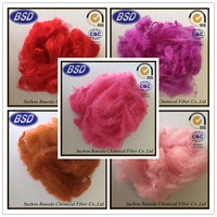 red colored polyester staple fiber psf