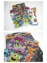 Hot sale 3d holiday halloween gift sticker , promotional wholesale kids gift Halloween sticker