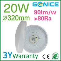 20w 320mm pure white lampshade led ceiling light dot