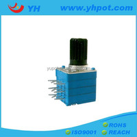 YH jiangsu 9mm high power three units digital a103 rotary micro sealed potentiometer