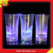 Factory supply LED Flashing cups 300 ml Lighted Wine Glass Light Up Party Glass