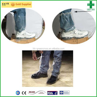 Disposable waterproof pe/cpe boot cover hand made high quality shoe cover