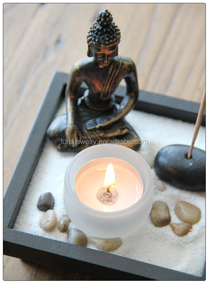 Antique buddha statue mini zen garden zen garden for Statue jardin zen