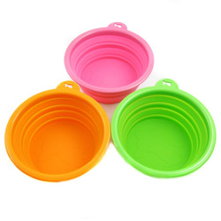 Essential Alfie Pet by Petoga Couture - Set of 3 Ros Silicone Pet Expandable/Collapsible Bowl Feeding Device