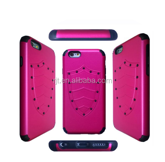 Hot selling new style 2 in 1 hybrid case for iPhone 6 case
