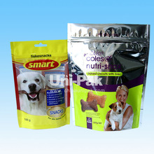 BPA free Custom Printed recloseable pet food and treats pouches with zipper