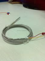 temperature sensor J type thermocouple probe with spring and 2 meter SS wire for industry