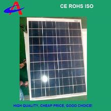 50W 18V poly solar panel 4*9cells with aluminium frame