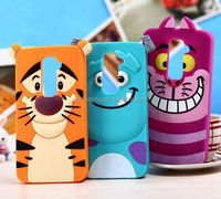 Cool Silicone case cover for LG G2 sulley/tiger/ cat design