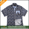 Summer short sleeve cotton shirts for men with printing