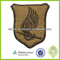 2015 China handmade high quality embroidery wing patch for garment