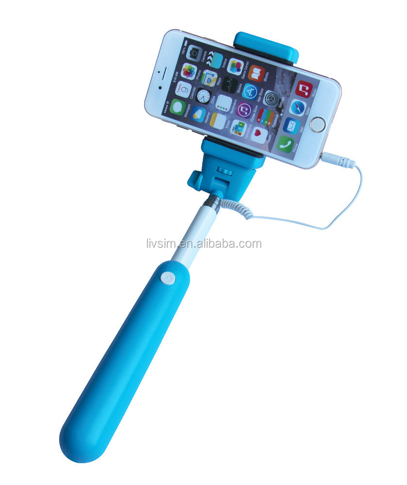 wholesale monopod selfie stick for iphone with remote without battery and bluetooth buy selfie. Black Bedroom Furniture Sets. Home Design Ideas