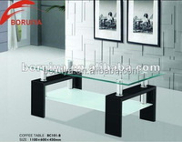 living room furniture center table design/coffee table tempered glass material top