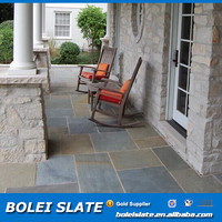 Natural color rustic slate paving