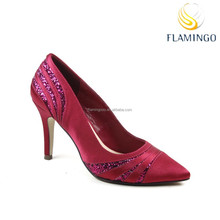 FLAMINGO 2015 LATEST ODM OEM sexy office ladies pump shoes new women shoes 2015