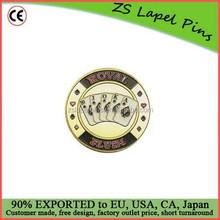 poker guards/ metal poker guards/ Spade Royal Flush Poker Card Guard Protector