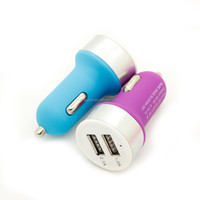 colorful cute Universal USB Nipple Design double usb female Car Charger Adapter 2.1A/1.0A