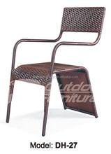 Cafe stackable rattan chair (DH-27)