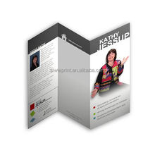 Customized advertising brochure samples printing