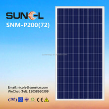 LDK 200 watt poly cells solar energy panel STOCK near to YIWU