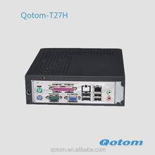 Cheapest intel atom N270 Onboard CPU windows 8 mini desktop computer pc,Qotom-T27H