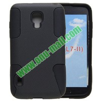 New Design 2 in 1 Style Silicon and Plastic Protective Hard Case for LG Optimus L7 II dual P715