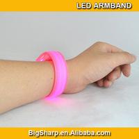 50pcs Colorful 3mode flash light-up reflective vocal concert led wristband bracelet Pub bar evening live show night live AB-2004