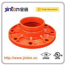 Fire Protection Pipe System Grooved Pipe Accessories Adaptor Flange FM UL
