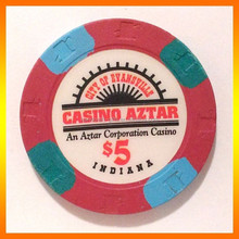 Latest Design Casino Aztar USD5 Poker Paulson Chips