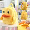 25*19cm(S)/35*28cm(L) lovely customzied yellow duck plush animal cartoon backpack for children