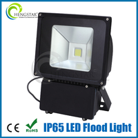 Outdoor projector ip65 waterproof black color cob led flood light 80w