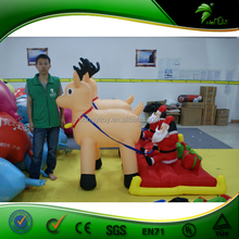 2015 new products Christmas innovative products inflatable santa decorations with two deer