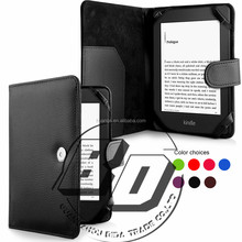 Ultra High Quality Super Stylish Litchi Texture Plain Flip PU Leather Case For Amazon Kindle Paperwhite 3/2/1 Tablet Cover