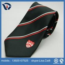 Formal custom tie, polyester woven striped school students necktie