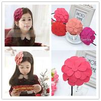 High-end kids hair accessories korean style unique hat design plum blossom style performance accessories AHB1029