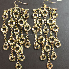 Fashion new model statement gold plated earrings