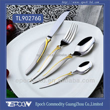Europe style stianless steel gold plated tea spoon wedding favors