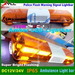 car roof top strobe flash led light bar for special vehicles police warning lightbar