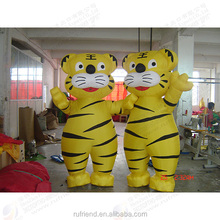 Custom advertising airtight cartoon model/inflatable tiger/toy